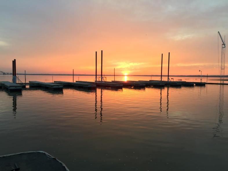 dock 1 sunset